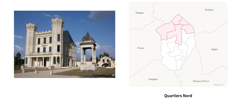 Chateau des quartiers Nord ⎮ Carte des quartiers de Talence