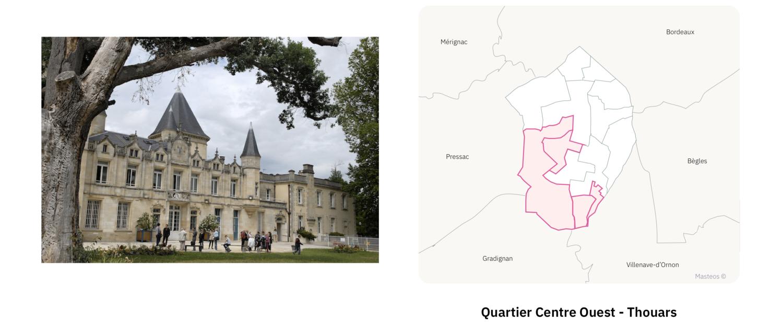 Chateau de Thouars ⎮ Carte des quartiers de Talence