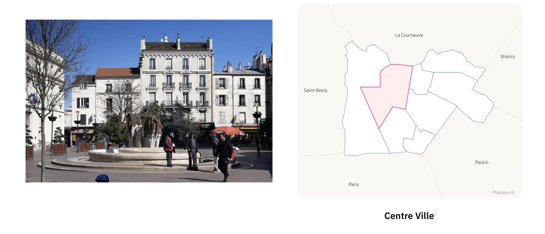 Centre ville d'Aubervilliers ⎮ Carte des quartiers d'Aubervilliers