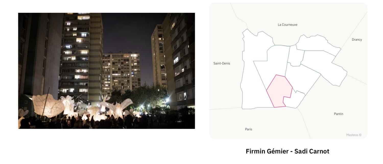 Secteur Firmin Gémier Sadi Carnon  ⎮ Carte des quartiers d'Aubervilliers