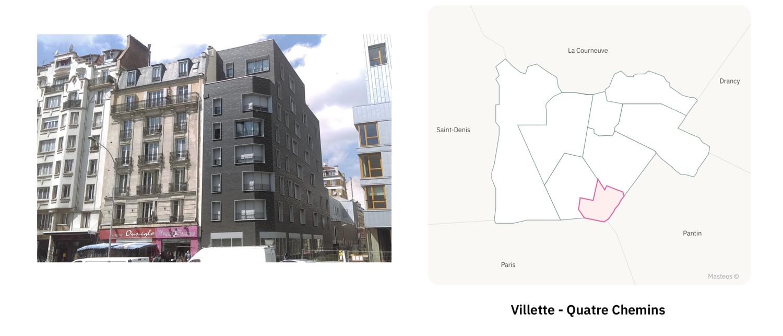 Secteur Villette Quatre Chemin  ⎮ Carte des quartiers d'Aubervilliers