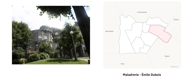 La Maladrerie d'Aubervilliers ⎮ Carte des quartiers d'Aubervilliers