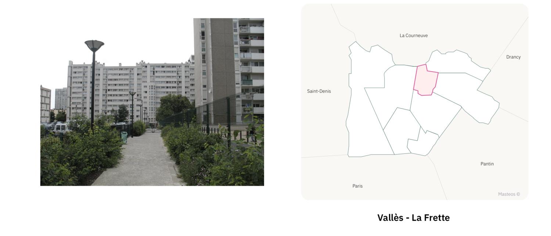 Secteur Vallès La Frette  ⎮ Carte des quartiers d'Aubervilliers