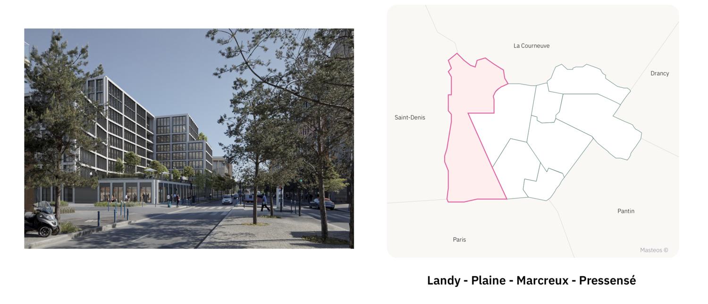 Secteur Landy Plaine Marcreux Pressensé  ⎮ Carte des quartiers d'Aubervilliers