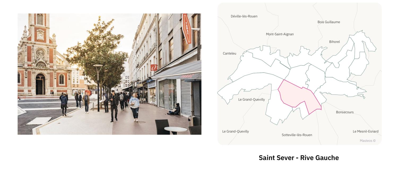 Secteur Saint-Sever Rive Gauche ⎮ Carte des quartiers de Rouen