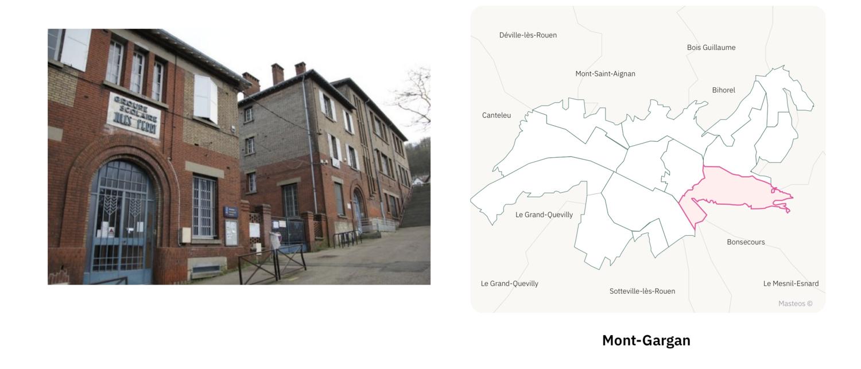 Ecole Jules Ferry du secteur Mont-Gargan ⎮ Carte des quartiers de Rouen