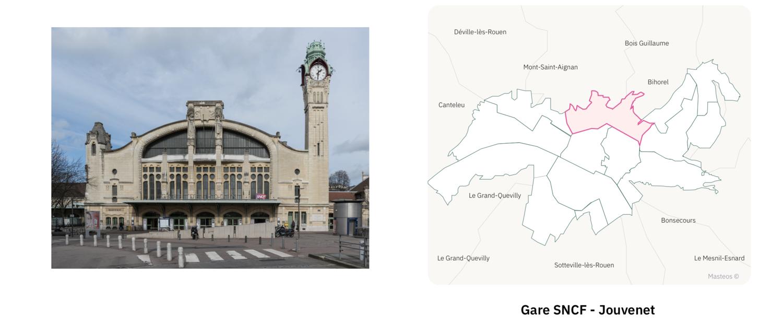 Gare SNCF Jouvenet ⎮ Carte des quartiers de Rouen