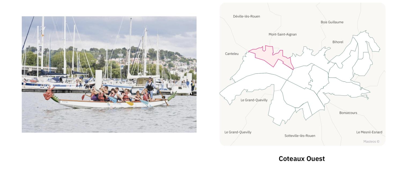 Bassin Coteaux Ouest ⎮ Carte des quartiers de Rouen