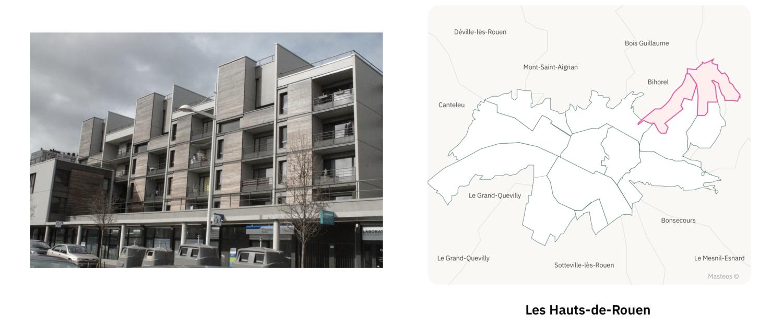 Logements des Hauts-de-Rouen ⎮ Carte des quartiers de Rouen