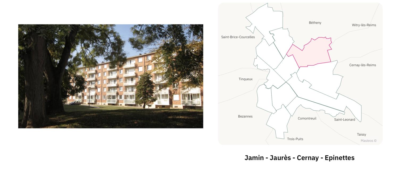 Résidence des Epinettes ⎮ Carte des quartiers de Reims