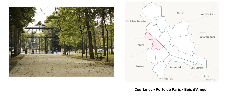 Porte de Paris à Reims ⎮ Carte des quartiers de Reims