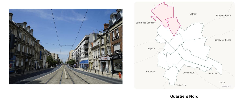 Secteur Nord ⎮ Carte des quartiers de Reims