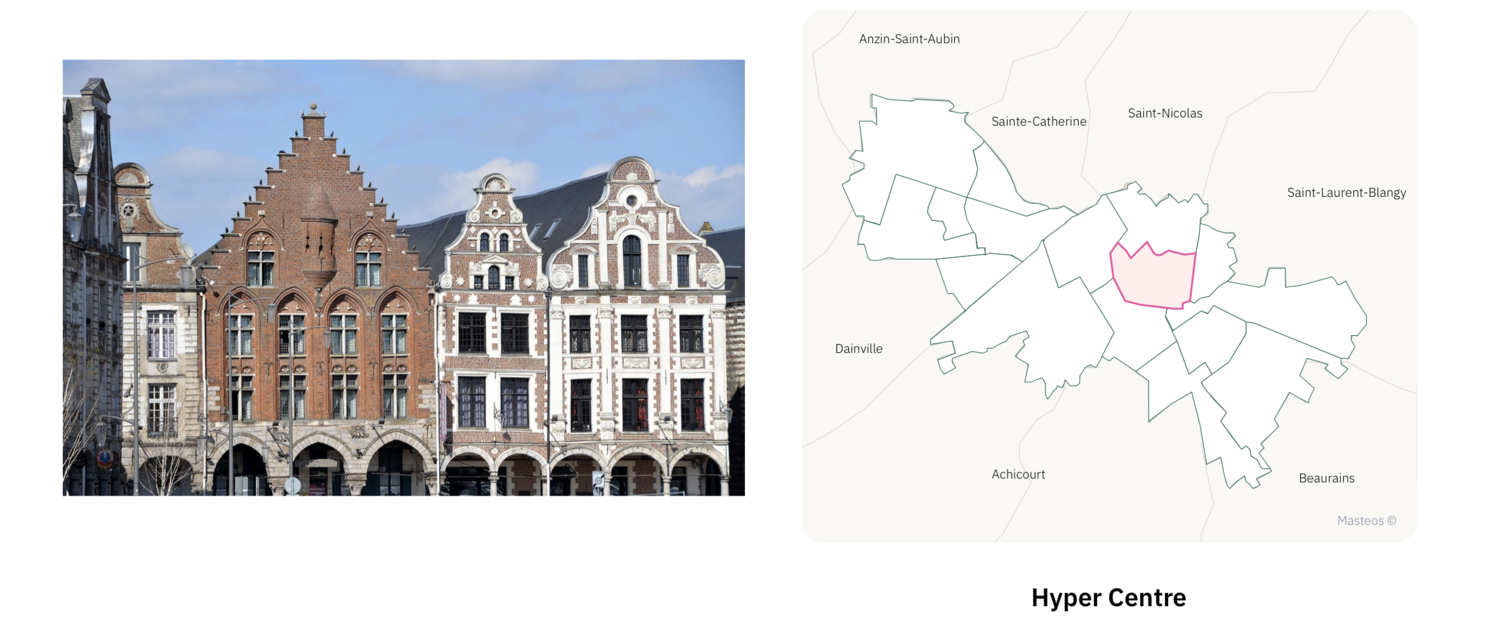 Hyper Centre d'Arras ⎮ Carte des quartiers d'Arras