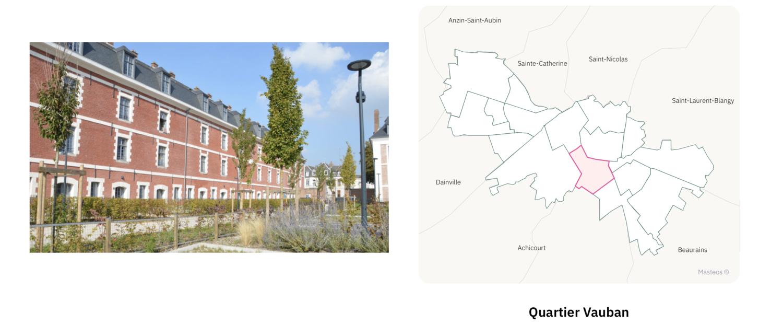 Secteur Vauban ⎮ Carte des quartiers d'Arras