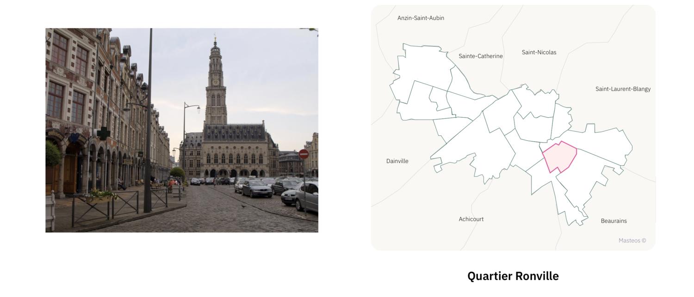 Secteur Ronville ⎮ Carte des quartiers d'Arras