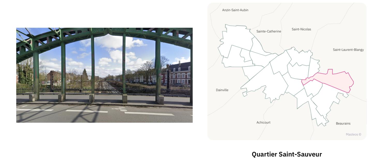 Pont Saint-Sauveur à Arras ⎮ Carte des quartiers d'Arras