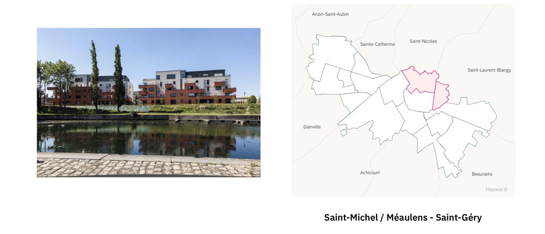 Quartier Saint-Michel Méaulens Saint-Géry ⎮ Carte des quartiers d'Arras