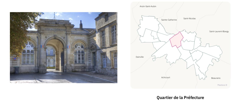 Préfecture d'Arras ⎮ Carte des quartiers d'Arras