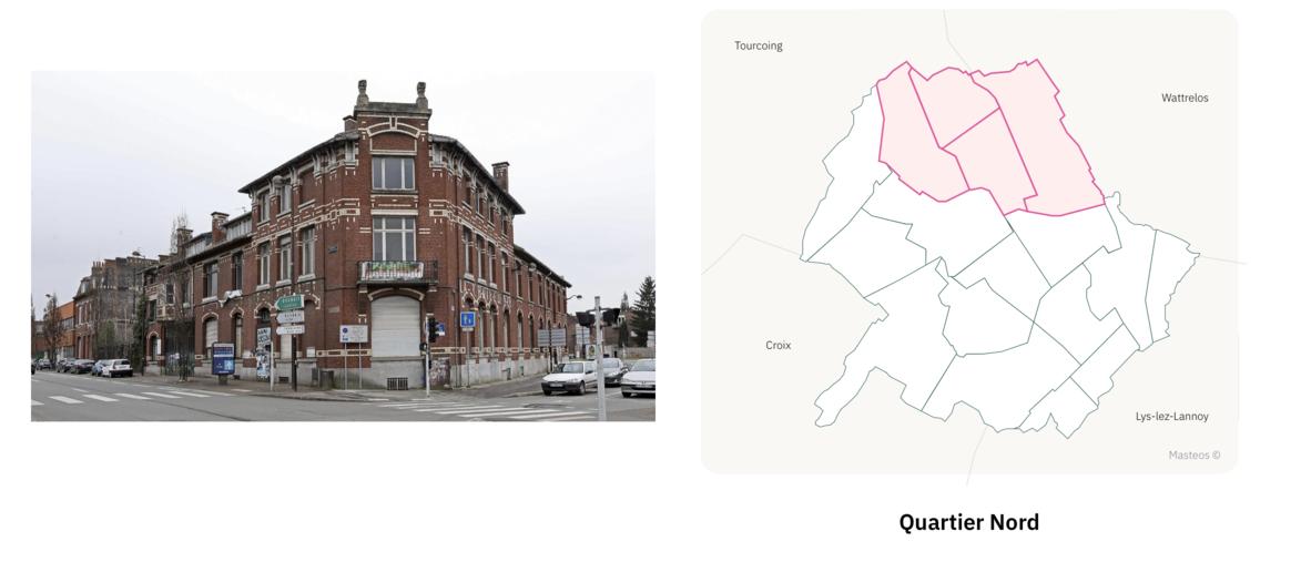 Logements du secteur Nord ⎮ Carte des quartiers de Roubaix