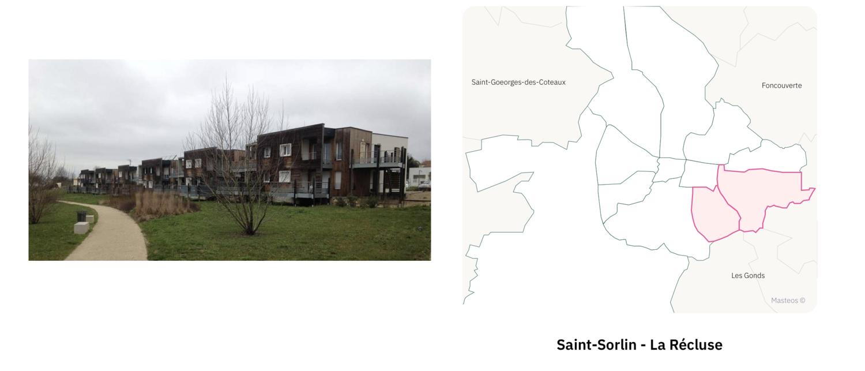 Secteur Saint-Sorlin La Récluse ⎮ Carte des quartiers de Saintes
