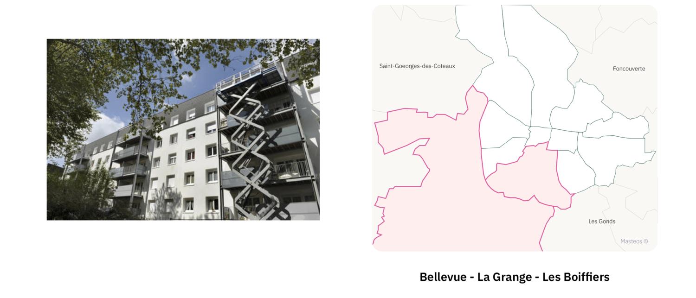 Secteur Bellevue La Grange Les Boiffiers ⎮ Carte des quartiers de Saintes