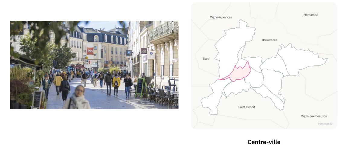 Centre ville de Poitiers ⎮ Carte des quartiers de Poitiers