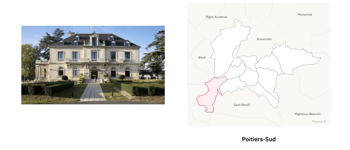 Manoir de Poitiers Sud ⎮ Carte des quartiers de Poitiers