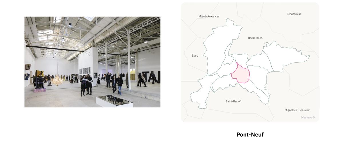 Confort Moderne secteur Pont-Neuf ⎮ Carte des quartiers de Poitiers