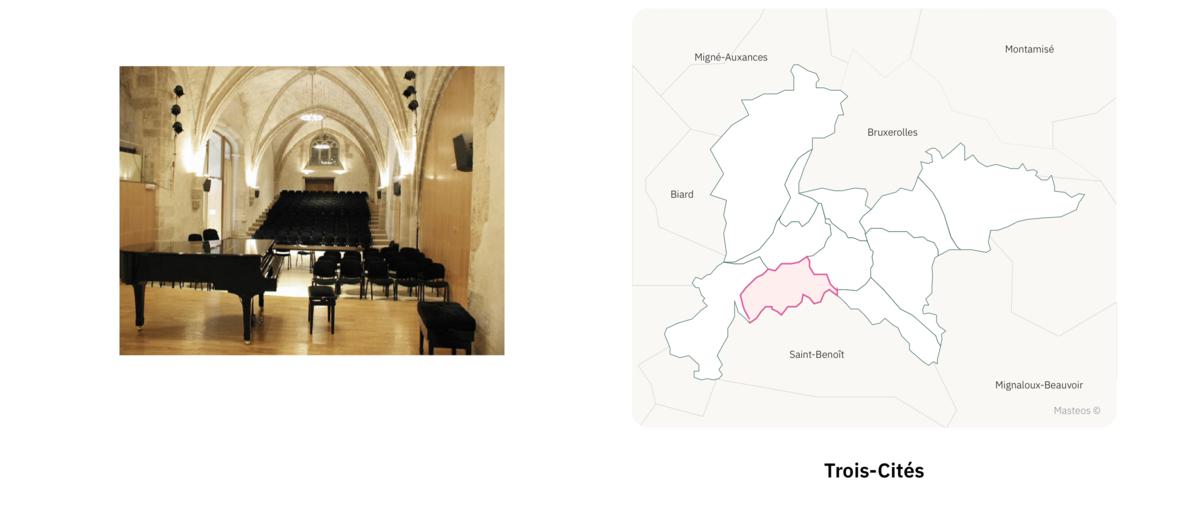 Les Trois-Cités ⎮ Carte des quartiers de Poitiers