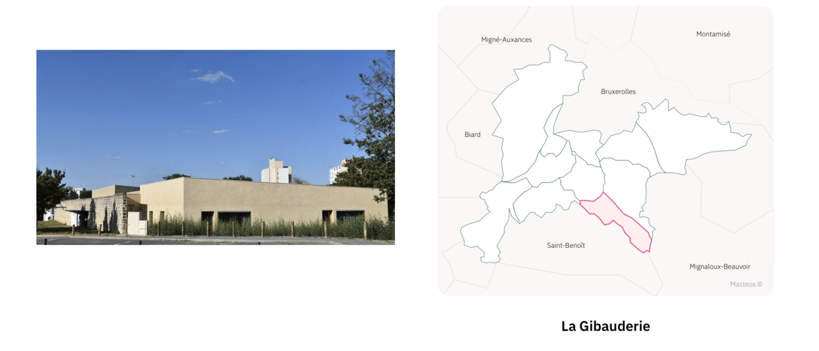 Maison de la Gibauderie ⎮ Carte des quartiers de Poitiers