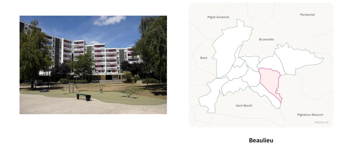 Logements à Beaulieu ⎮ Carte des quartiers de Poitiers