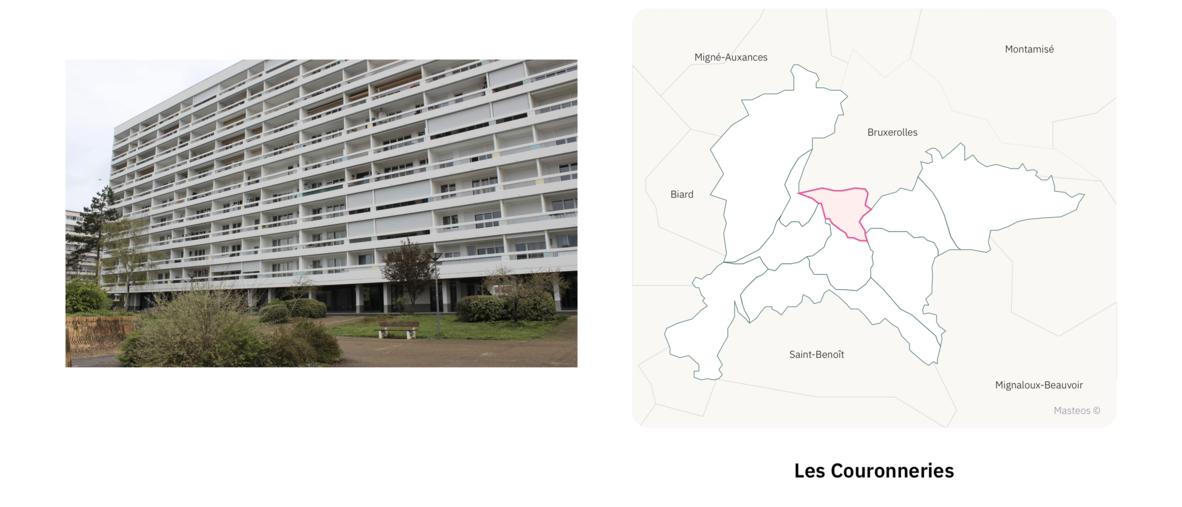 Secteur les Couronneries ⎮ Carte des quartiers de Poitiers