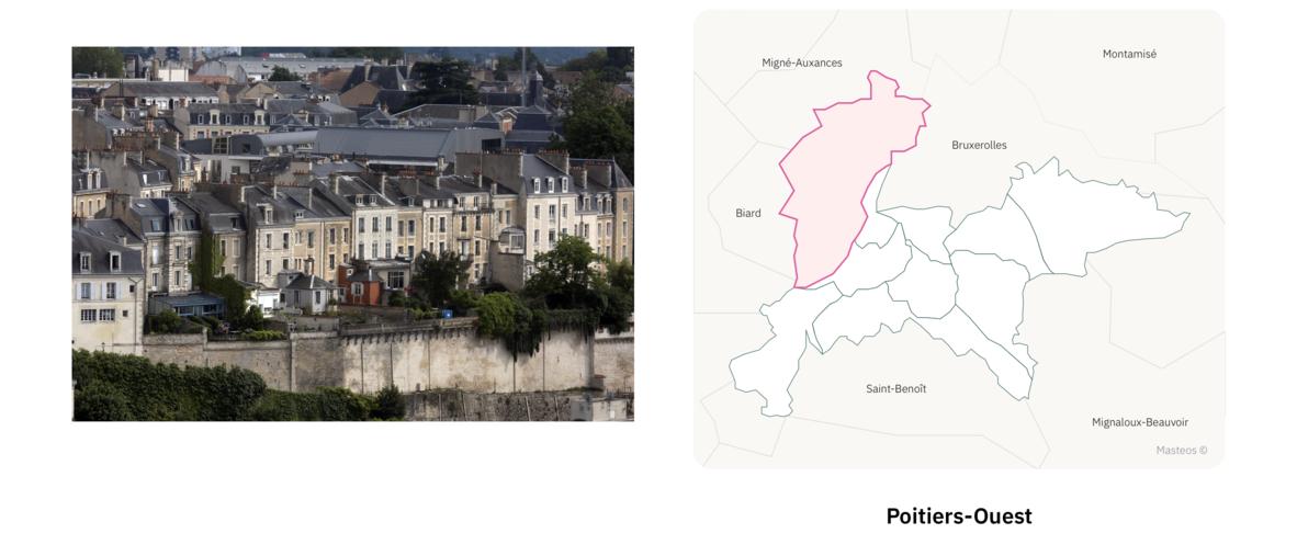Secteur Poitiers Ouest ⎮ Carte des quartiers de Poitiers