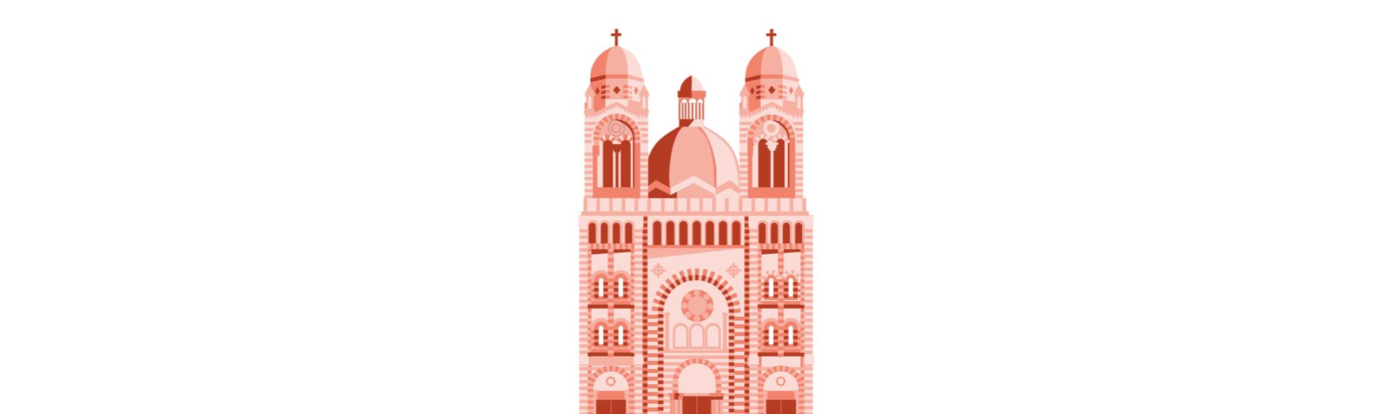 Basilique de Marseille, ville étudiante où investir pour un investissement locatif.