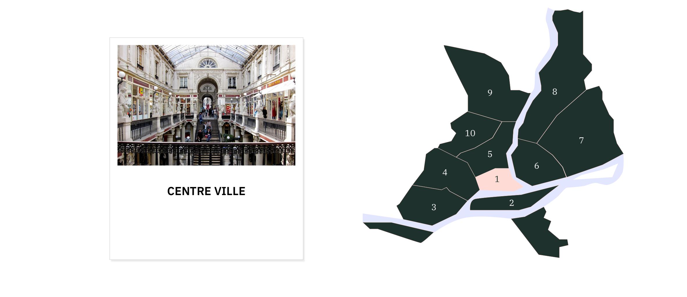 Centre ville⎜Carte des quartiers de Nantes
