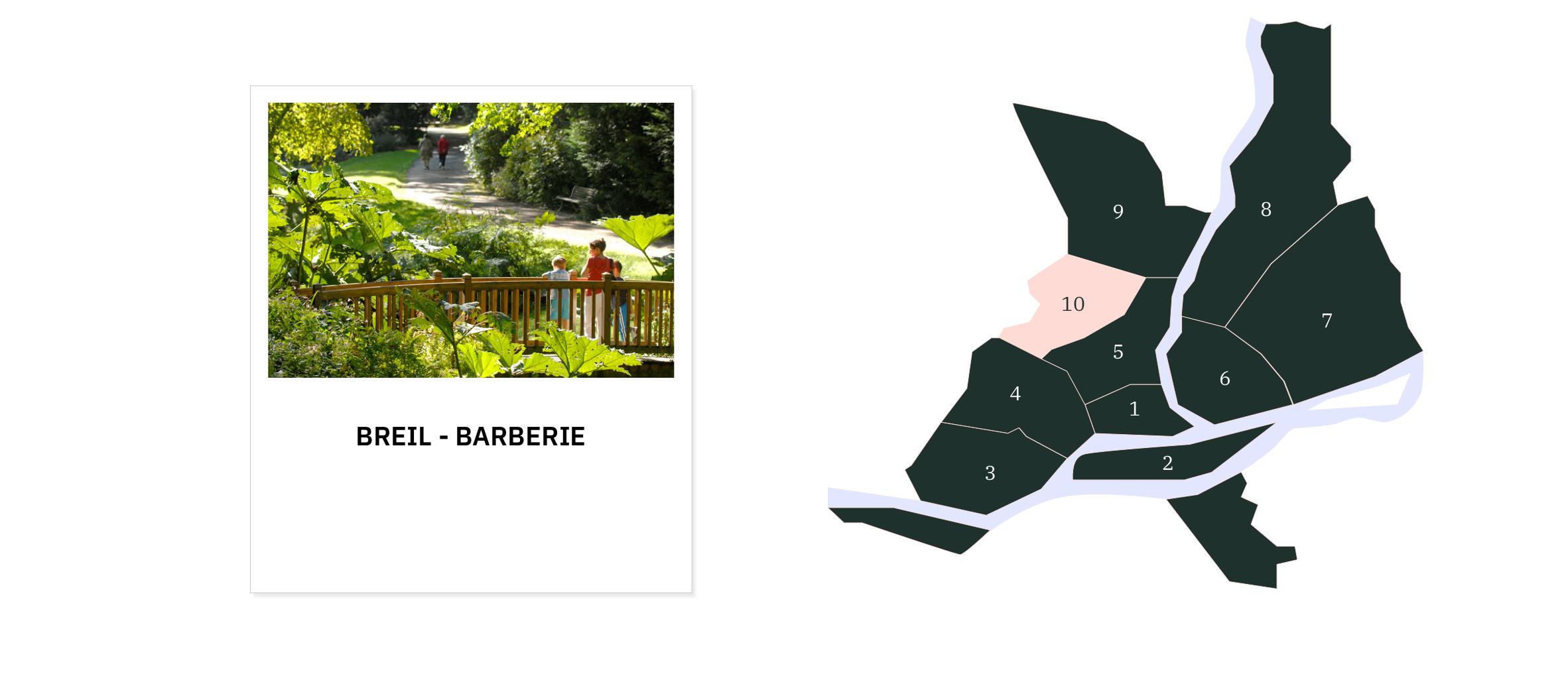 Breil Barberie ⎜Carte des quartiers de Nantes