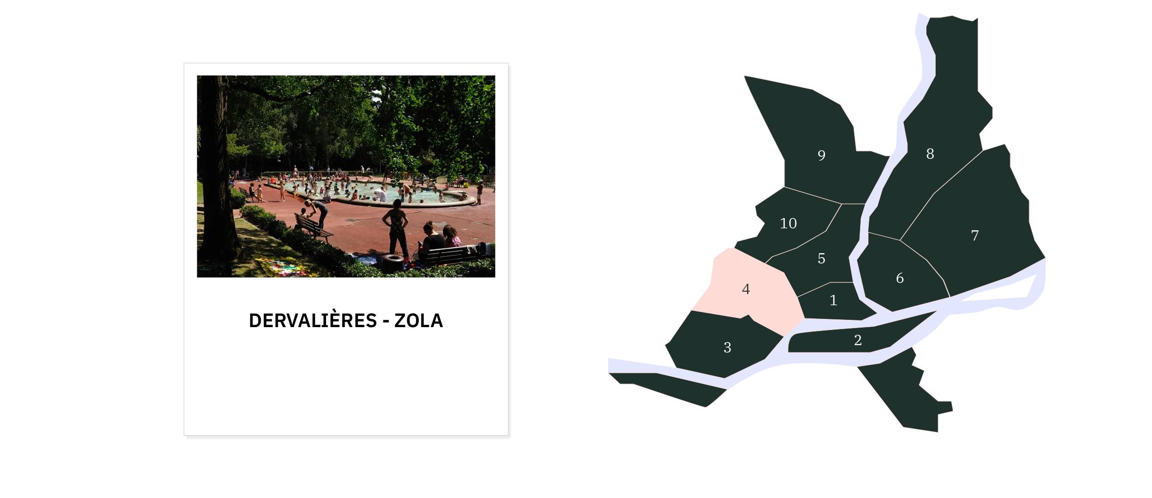 Dervalières • Zola ⎜Carte des quartiers de Nantes