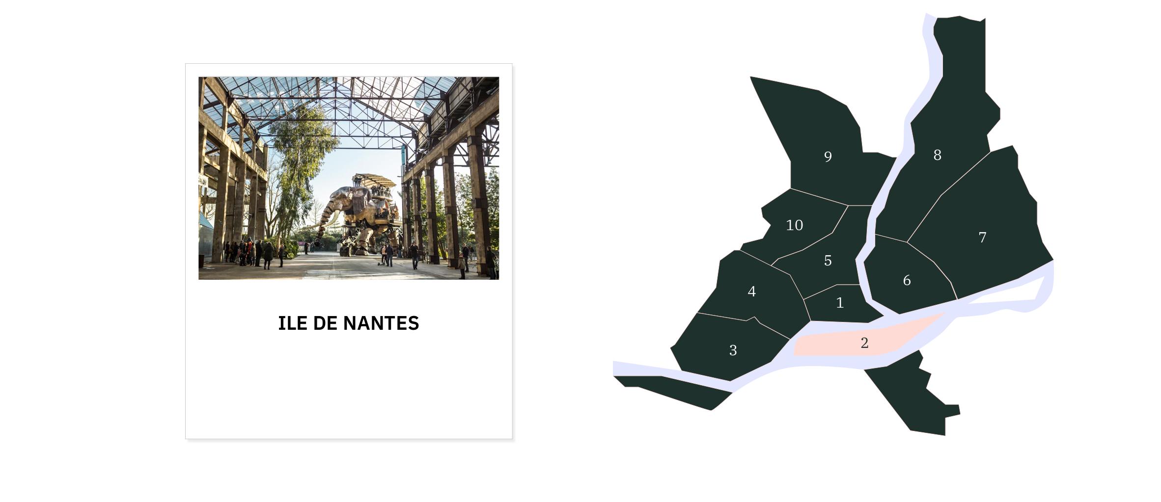 Ile de Nantes ⎜Carte des quartiers de Nantes