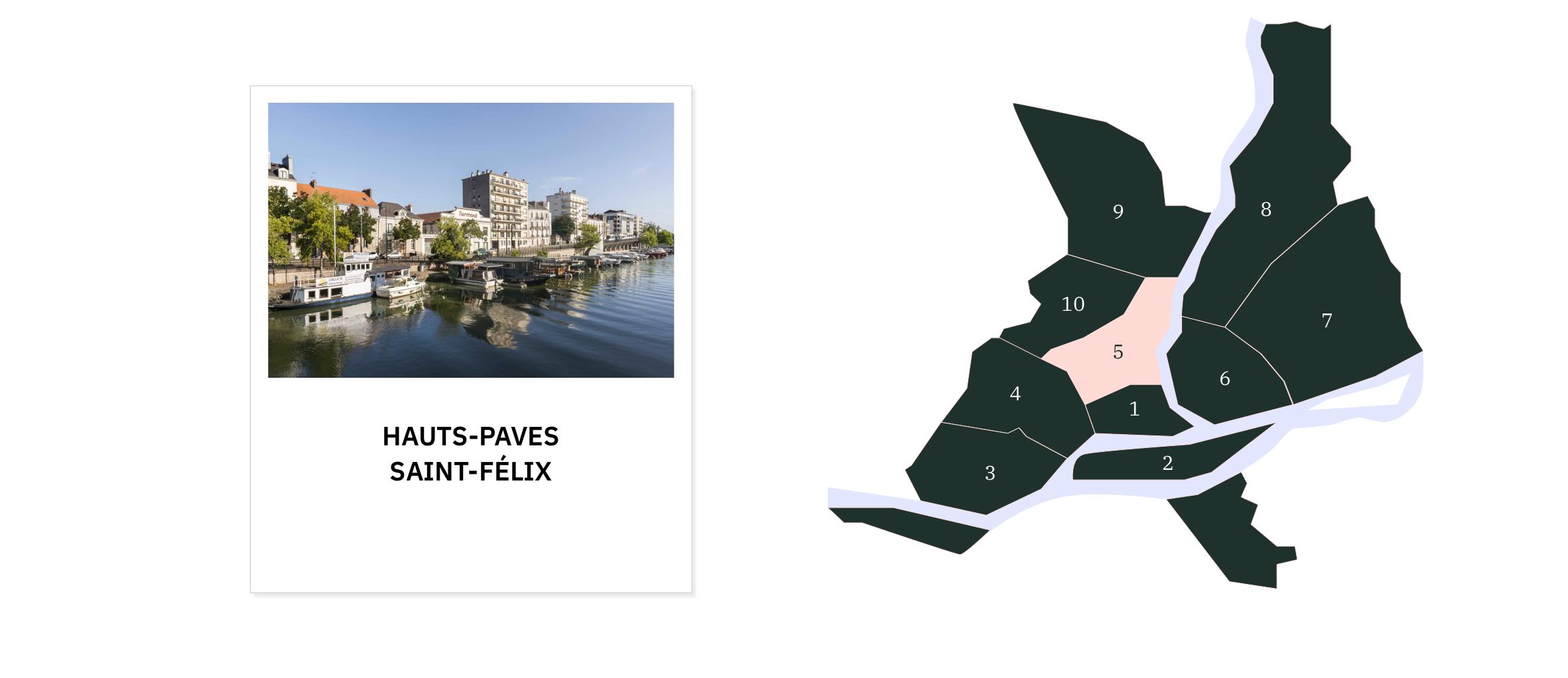 Hauts-Pavés • Saint-Félix ⎜Carte des quartiers de Nantes