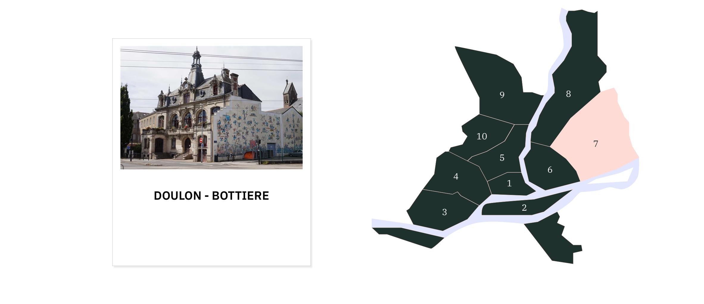 Doulon • Bottière ⎜Carte des quartiers de Nantes