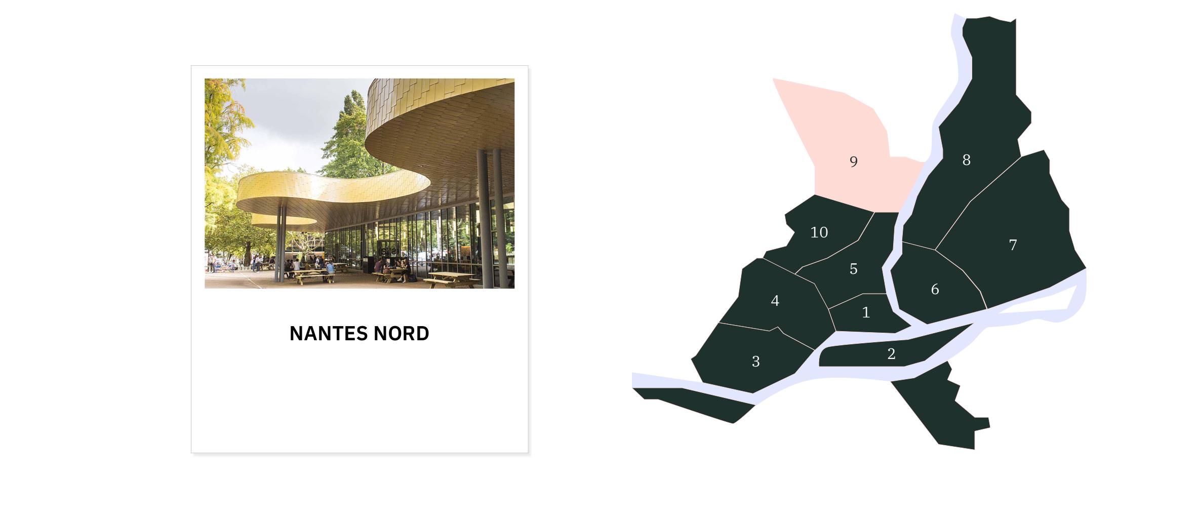 Nantes Nord ⎜Carte des quartiers de Nantes