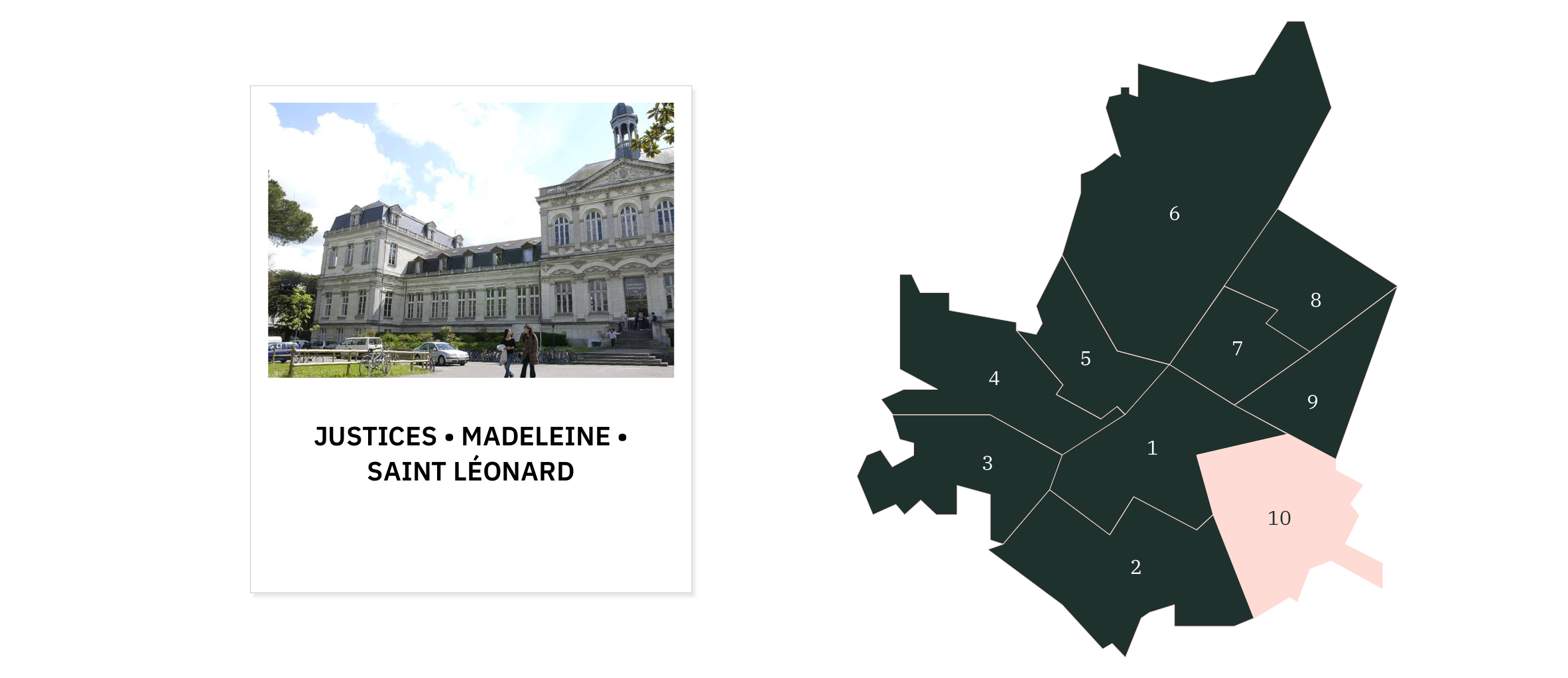 Madeleine Saint Leonard Justices⎜Carte des quartiers d'Angers