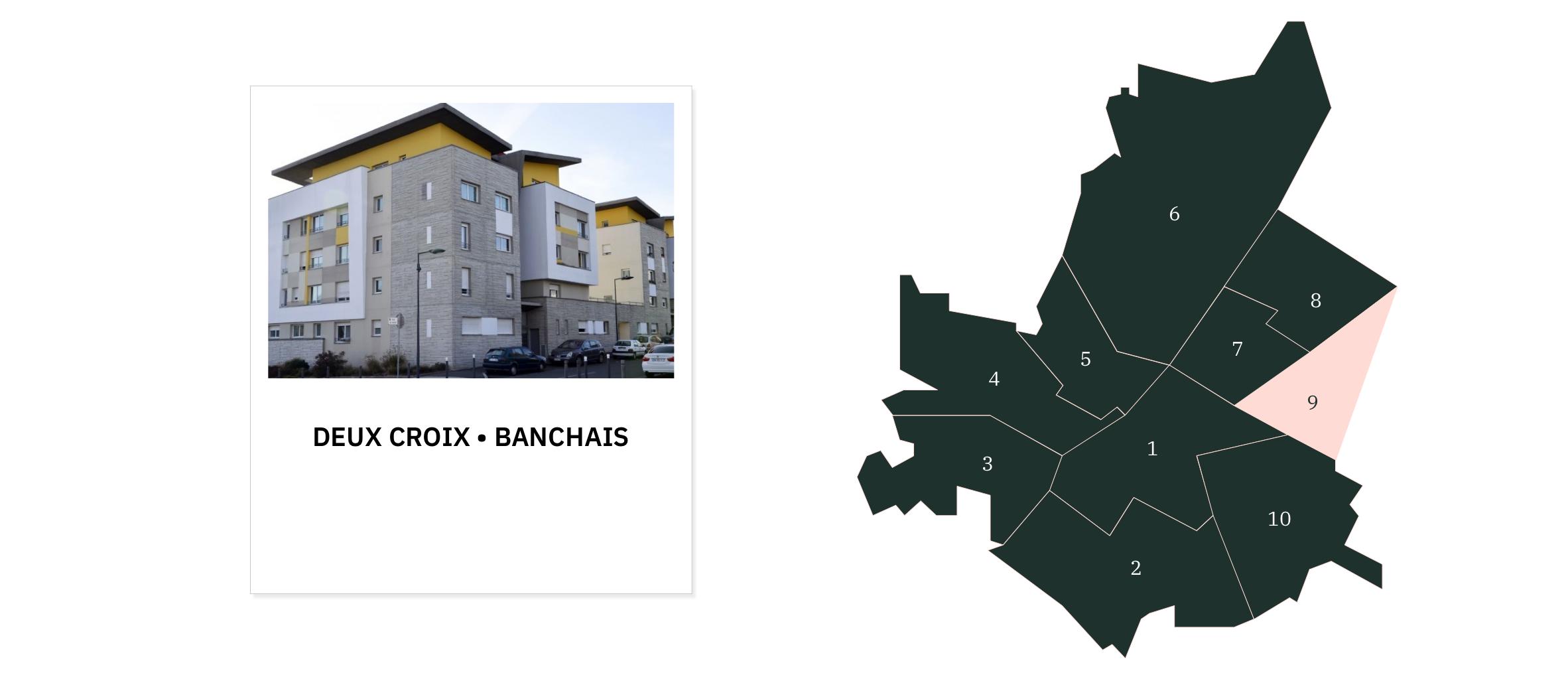 Deux Croix Banchais⎜Carte des quartiers d'Angers