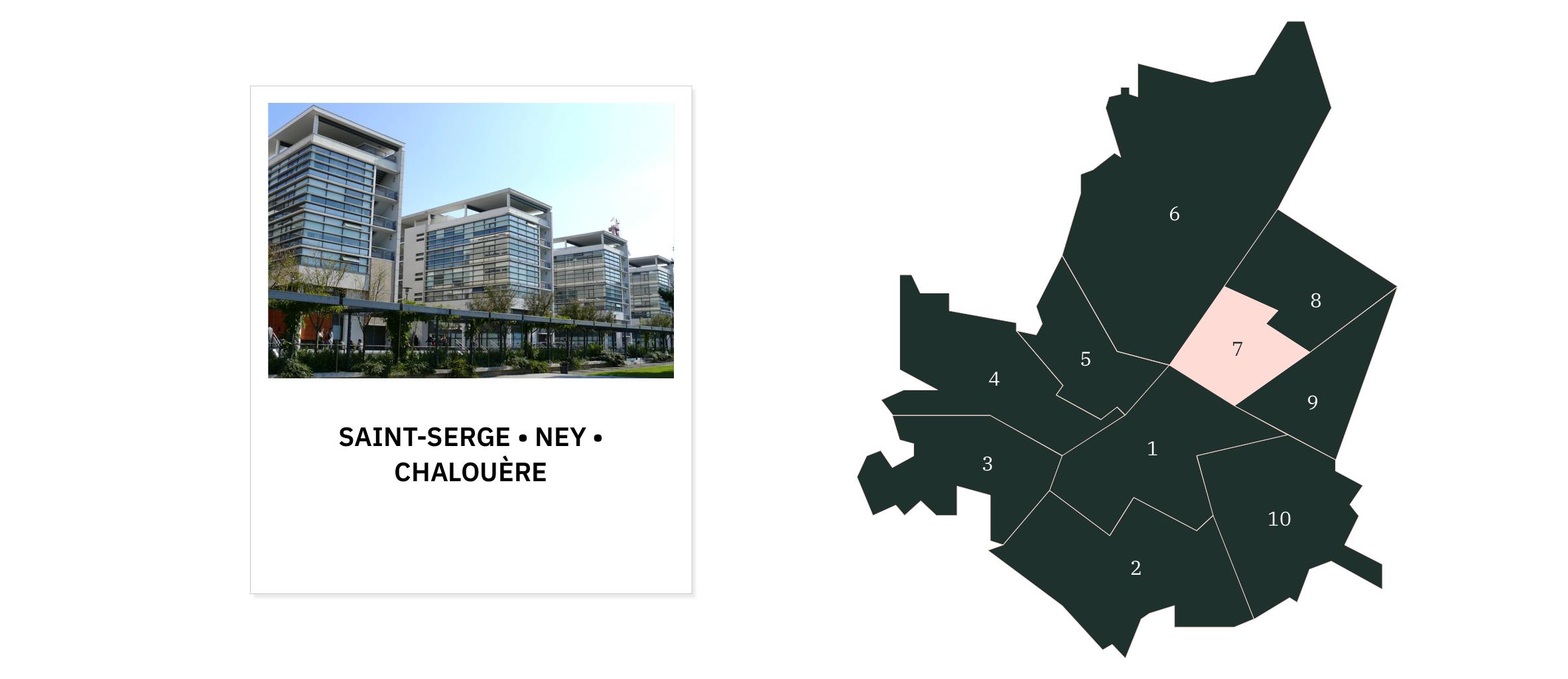 Saint-Serge Ney Chalouère ⎜Carte des quartiers d'Angers