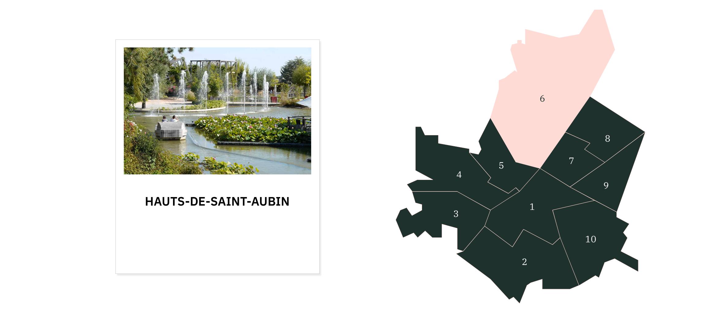 Hauts de Saint-Aubin⎜Carte des quartiers d'Angers