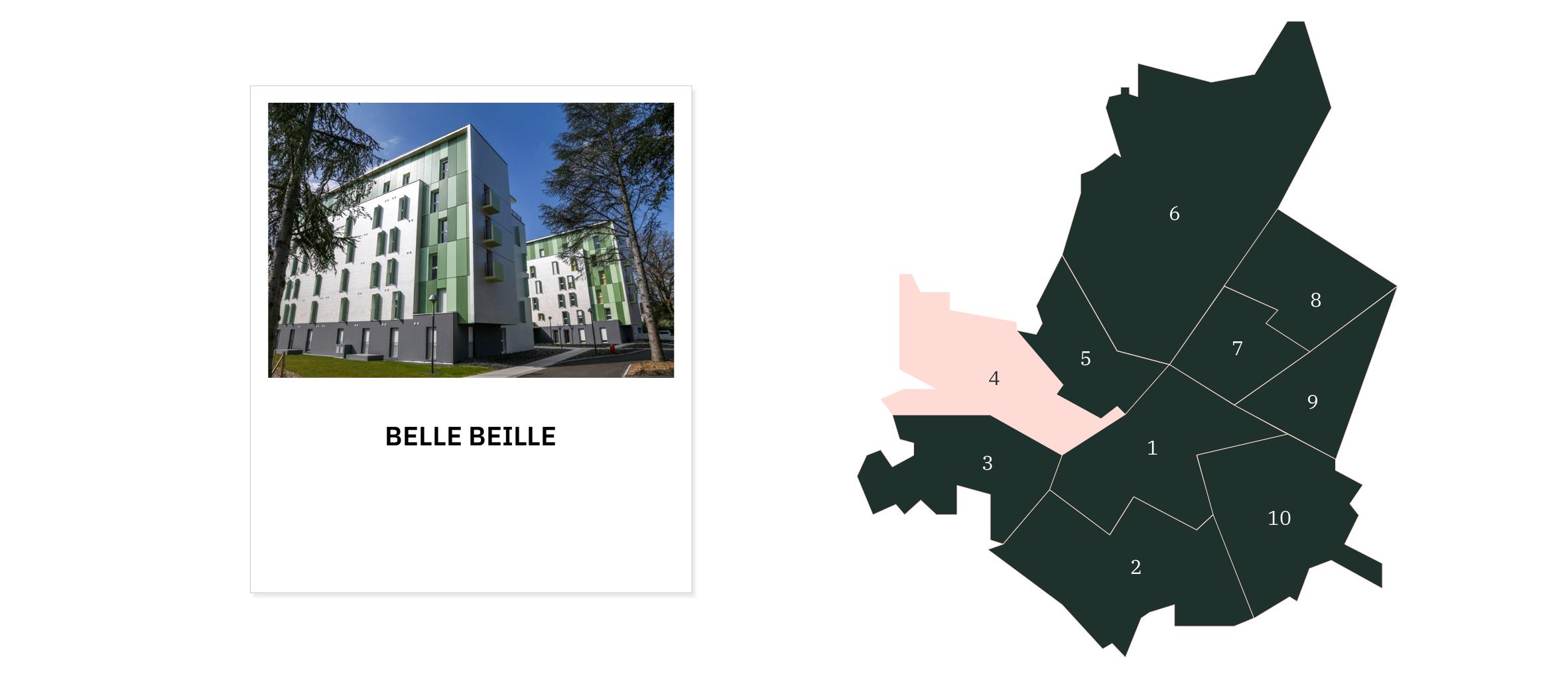 Belle Beille⎜Carte des quartiers d'Angers