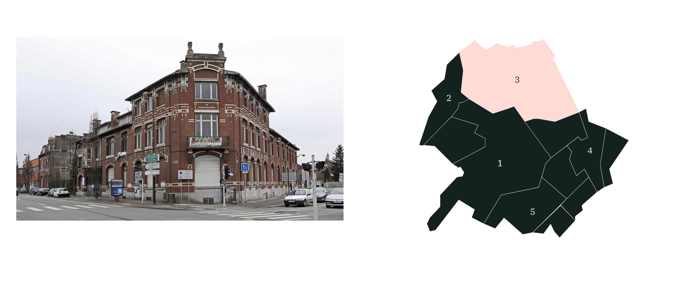 Quartiers Nord ⎮ Carte des quartiers de Roubaix