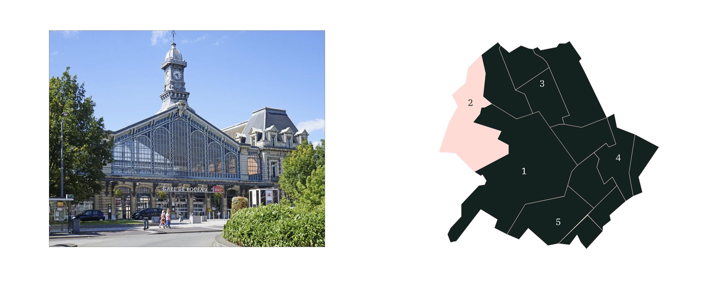 Quartier Ouest ⎮ Carte des quartiers de Roubaix