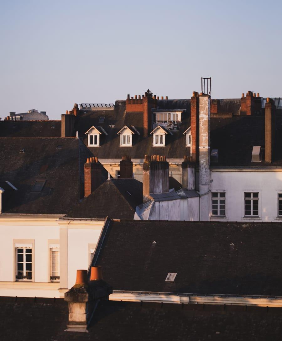 Photo des toits de maisons