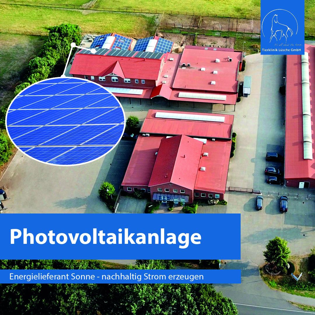 Photovoltaikanlage auf den Dächern der Tierklinik Lüsche